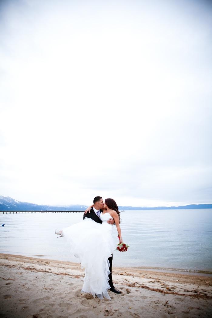 S Lake Tahoe beach couple
